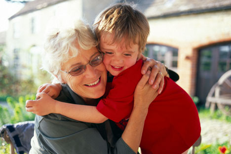 grandmother grandson