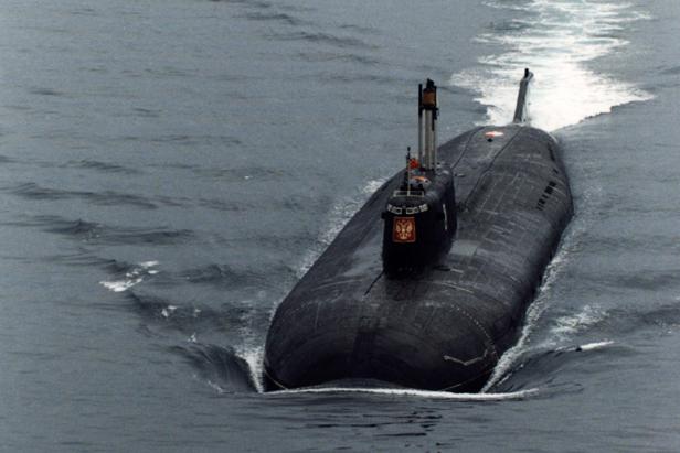 """Подморницата """"Курск""""."""