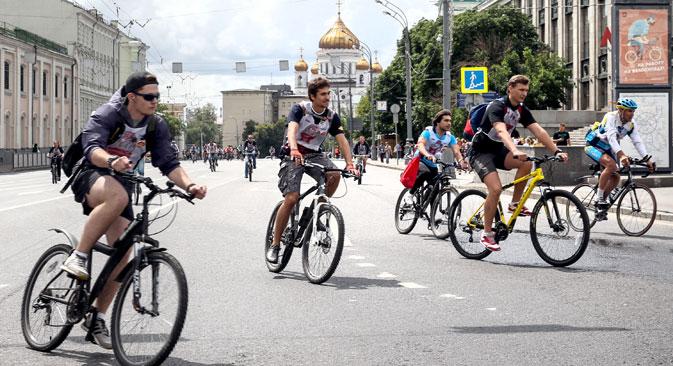 Ciclisti nel cuore di Mosca