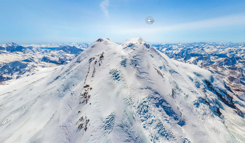 Panoramic View From The Top Of Elbrus Europe S Highest Mountain