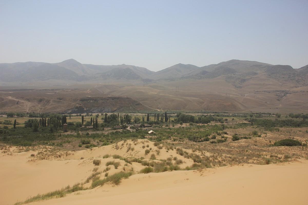 この砂丘の植物は、古来の砂漠に生息した植物の残存物である。かつては広範囲にわたって生息していたが、現在ではカスピ海の西海岸でしか生息していない。この砂は、まるでアジアのさまざまな砂漠を縮小したかのようだ。中央アジア、イラン、カフカースや、さらにはアルタイ山脈を起源とする植物が生息する「植物園」なのである。