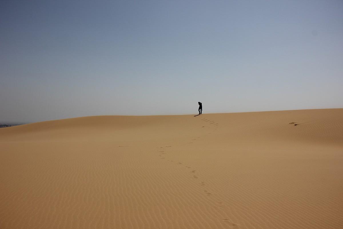 この砂丘に最初に言及したのはフランス人小説家のアレクサンドル・デュマで、『コーカサス旅行記』はパリで1861年に出版された。彼は1858年に、ダゲスタンへの旅行中にこの砂丘を目にした。