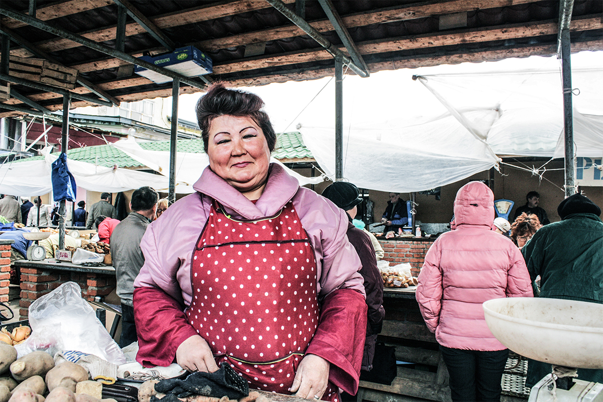 Venditrice di verdure, Saransk, Mordovia