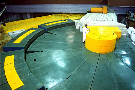 The IBR 2 pulse reactor at the Joint Institute for Nuclear Research in the town of Dubna in the Moscow Region.