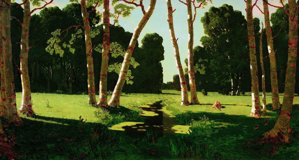The summer splendor and happiness can be admired all year round thanks to these delightful paintings./A birch grove, 1879, Arkhip Kuindzhi.