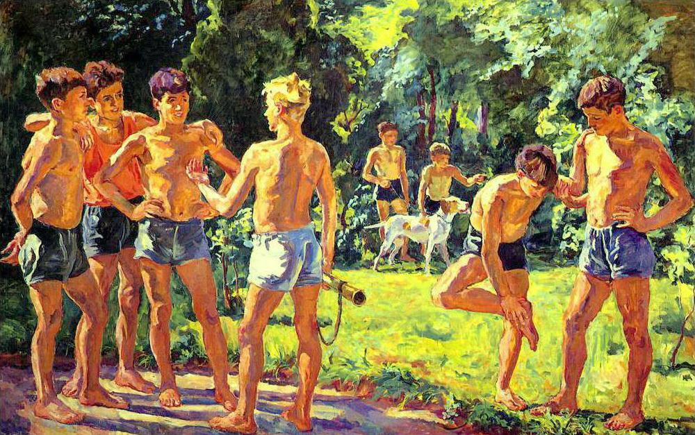At summer, 1939, Petr Konchalovsky.
