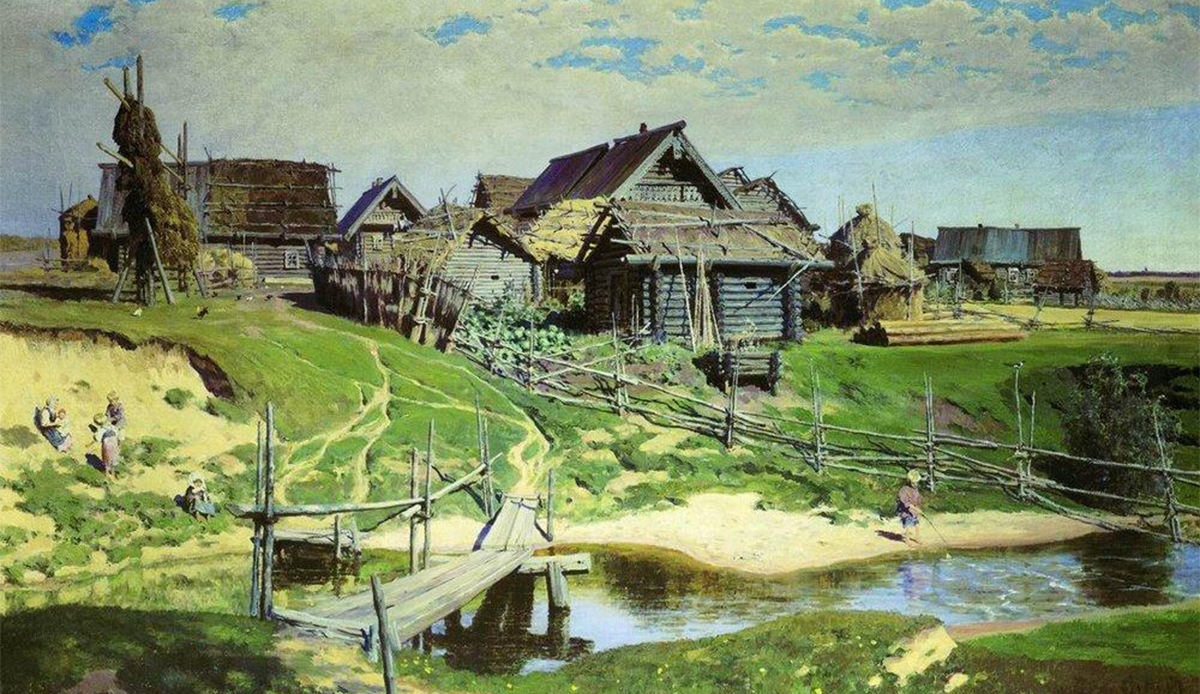 Russian village, 1889, Vasiliy Polenov.