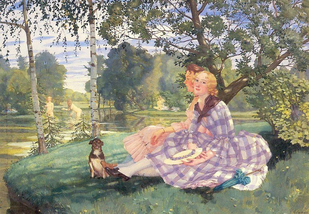Summer, 1919, Konstantin Somov.