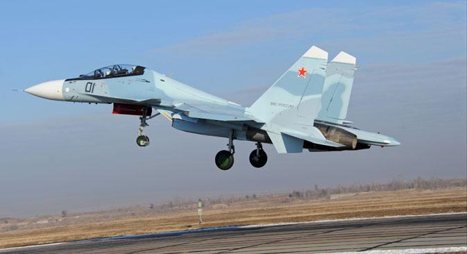 Su-30 SM de cuarta generación.
