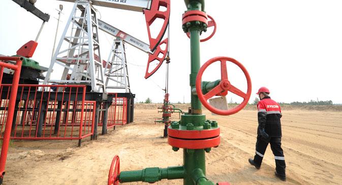 Un impianto della compagnia Lukoil