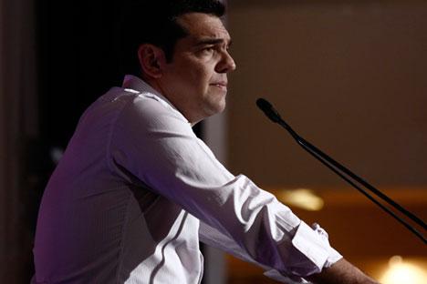 Le Premier ministre grecque Alexis Tsipras se prononce lours d'une réunion du comité central du parti Syriza le 30 juillet 2015.