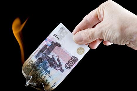Russische Firmenchefs bleiben trotz Rubelschwäche weitgehend entspannt.