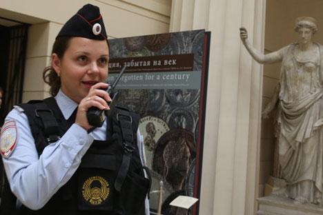 Russische Polizei zieht Personal aus Museen ab.