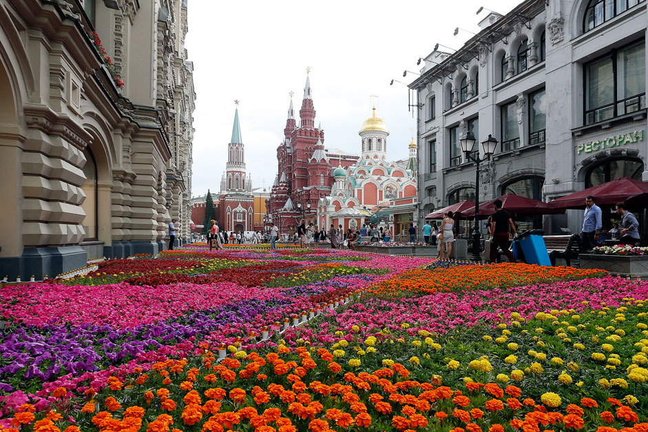 Moscow Flower Festival. Every July 600,000 flowers are planted near Red Square for a month or so. It can cause allergies and Red Square is not a botanical garden, right?