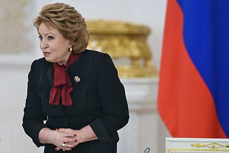 Ketua Dewan Federal Federasi Rusia Valentina Matviyenko.