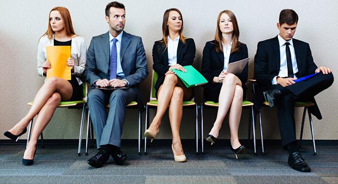 Candidati aspettano un colloquio di lavoro