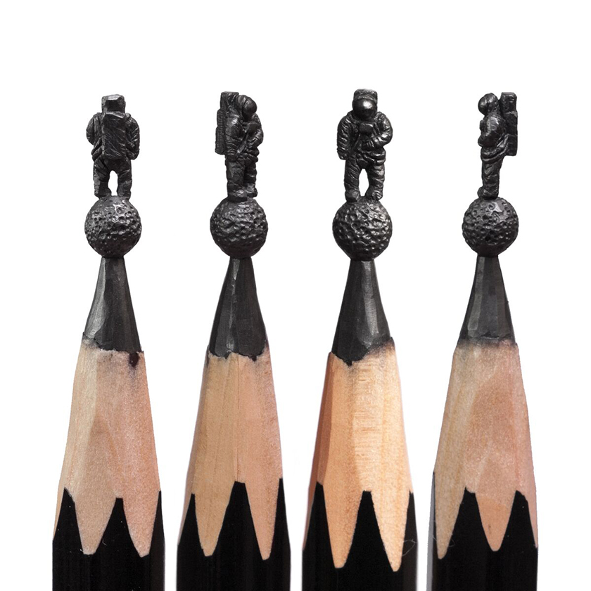 「アイデアはたくさんあるけど、もろい黒鉛を使ってつくれるものは限られている。インスピレーションが迷走することもある」。フィダイ氏と作品についての詳細はこちら。