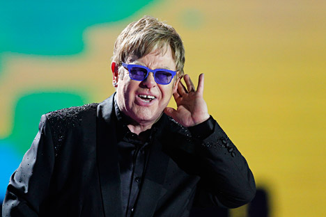 Singer Elton John. Source: Reuters