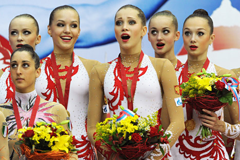 National anthem mishaps are not at all rare at sporting events. Source: Vladimir Vyatkni / RIA Novosti