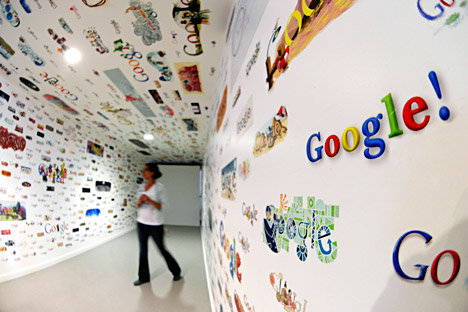 Russian regulator deems Google broke competition law. Source: Zuma\TASS