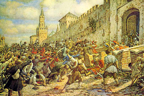 Salt Riot on Red Square, by Ernest Lissner