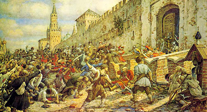 Salt Riot on Red Square, by Ernest Lissner