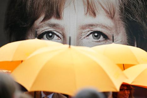 Il ritratto di Angela Merkel.