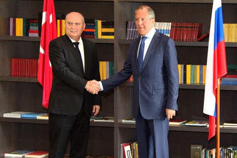 Meeting of Russian Foreign Minister Sergey Lavrov and Minister of Foreign Affairs of Turkey Feridun Sinirlioğlu, Sochi, September 17, 2015. Source: MFA Russia