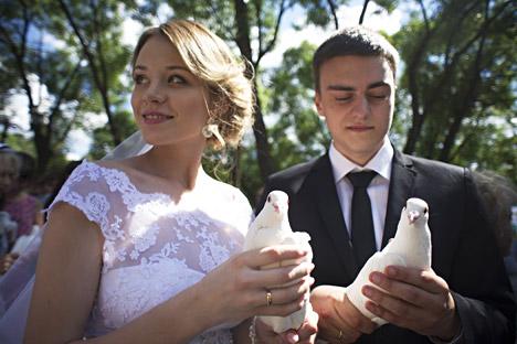 Coppia di sposi.