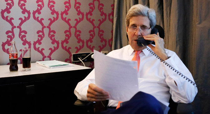 U.S. Secretary of State John Kerry has called his Russian counterpart Sergei Lavrov three times over the past several days. Source: Reuters