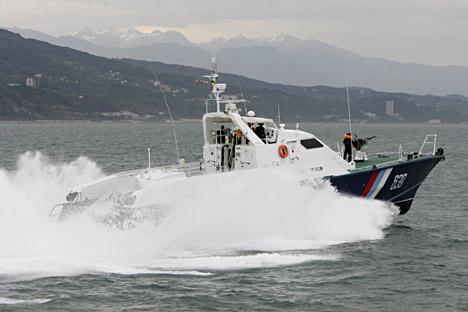 A Sobol border patrol boat.