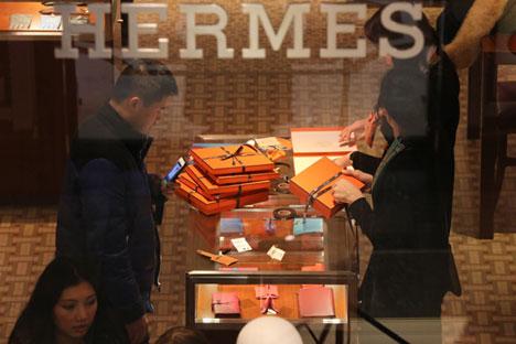 La boutique Hermès au Goum, à Moscou.