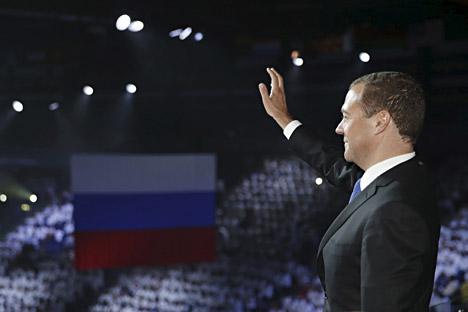 """""""Russland beabsichtigt nicht, den europäischen Kontinent zu verlassen – weder ökonomisch, noch politisch oder mental"""", schreibt Dmitrij Medwedjew."""