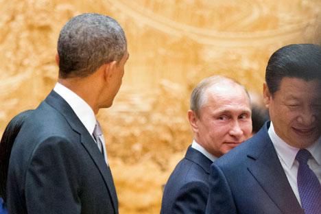 Präsidenten Putin und Obama werden sich am Montag treffen.
