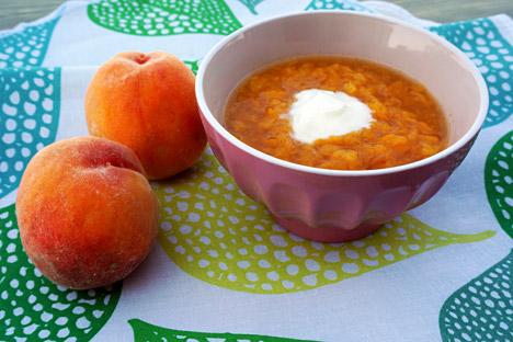 Peach soup