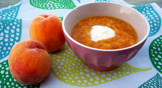 Peach soup. Source: Anna Kharzeeva