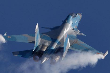 Pesawat Su-30 MKI ini dipamerkan di Pameran Internasional Aviasi dan Antariksa MAKS 2005 ke-7 di kota Zhukovsky, pinggiran kita Moskow, Rusia.