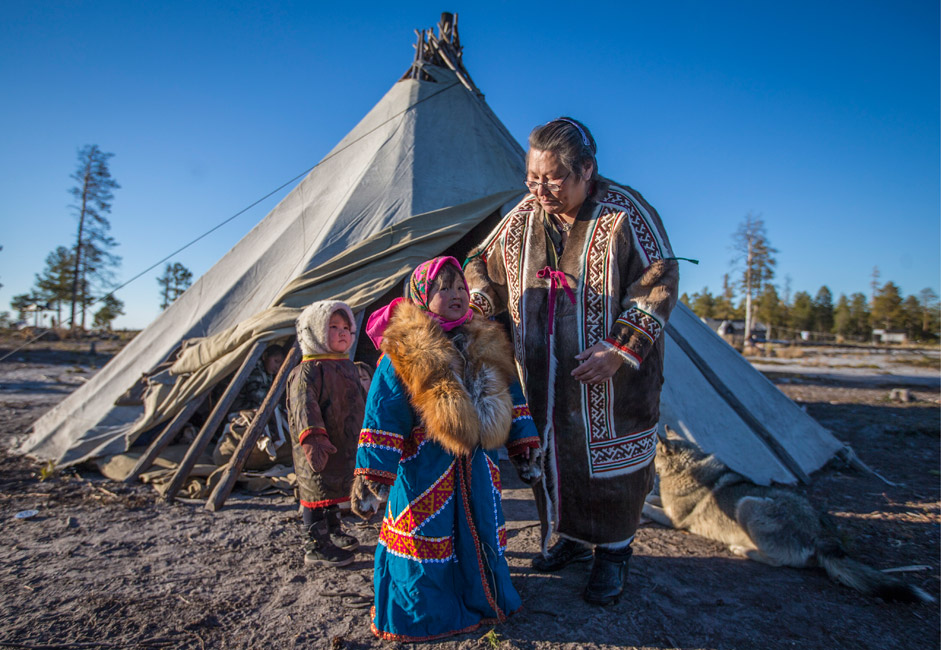 Members of the Dyanki-koi ethnic community in the Yamal-Nenets Autonomous Region, on Sept. 28 2015