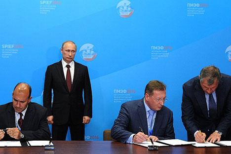Memorando de entendimento entre empresas russas e cubana foi assinado durante Fórum Econômico de São Petersburgo em 2014