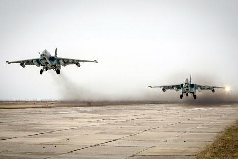 Pesawat tempur Sukhoi Su-25.
