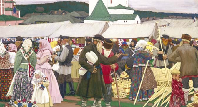 Активната търговия в Русия започва да се развива през XIV-XV в.