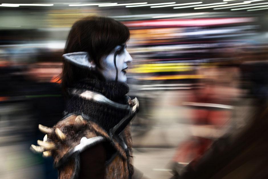 """Фентъзи герой на изложбите Comic Con и """"ИгроМир"""" в изложбения комплекс Crocus Expo в Москва."""