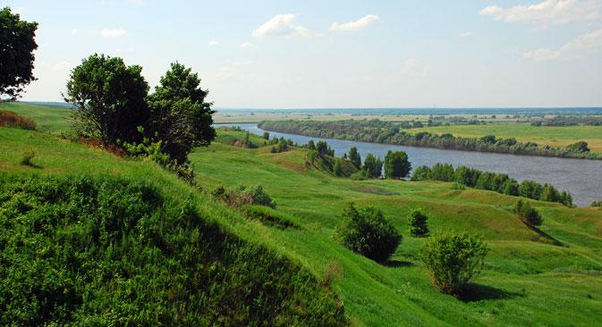 Село Константиново, родното място на Сергей Есенин.
