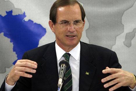 Furlan participou de coletiva de imprensa após o encontro com delegação russa