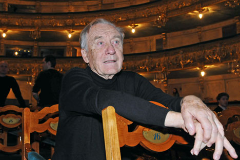 Der Komponist und Ehemann von Ballerina Maja Plissezkaja Rodion Schtschedrin.