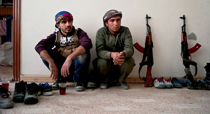 Kurdish fighters in Kobani, Syria, Nov.1, 2014. Source: AP
