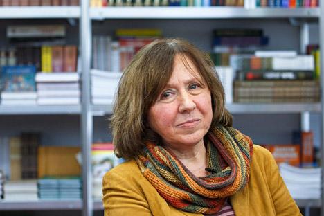 La scrittrice bielorussa Svetlana Aleksievich, vincitrice del Nobel per la Letteratura