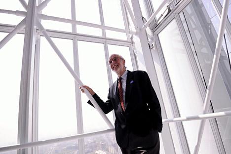 L'architetto italiano Renzo Piano