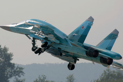 Sukhoi Su-34 jet fighter.