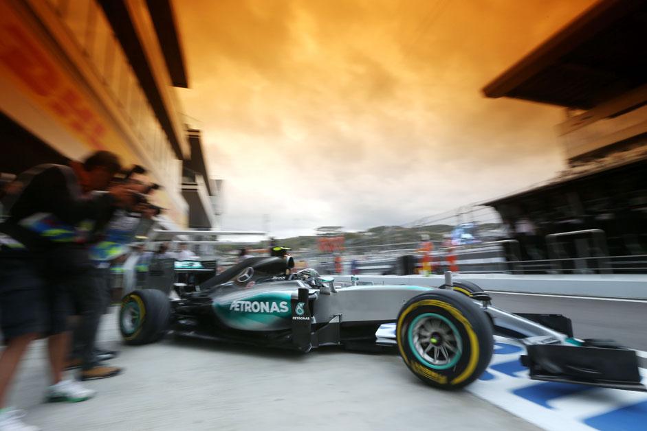Nico Rosberg tritt für Mercedes beim Formel-1-Rennen Großen Preis von Russland in Sotschi an.